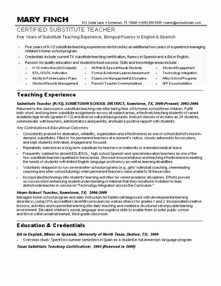 Free Sample Resume for Teachers Luxury Sample Teacher Resumes