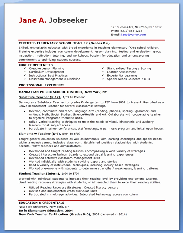 Free Sample Resume for Teachers Unique Free Professional Resume Templates Download