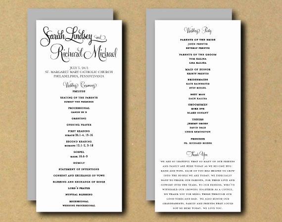 Free Sample Wedding Programs Templates Awesome Sale Printable Wedding Program Template Whimsical