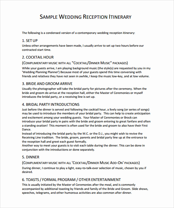 Free Sample Wedding Programs Templates Beautiful Sample Wedding Program Template 9 Documents In Pdf