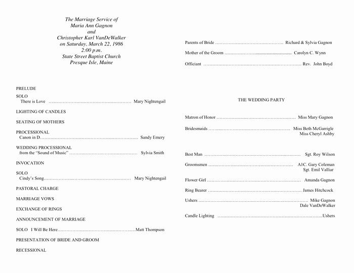 Free Sample Wedding Programs Templates Beautiful Sample Wedding Program Template In Word and Pdf formats