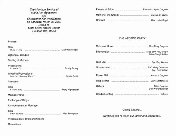 Free Sample Wedding Programs Templates Beautiful Wedding Ceremony Program Template 36 Word Pdf Psd