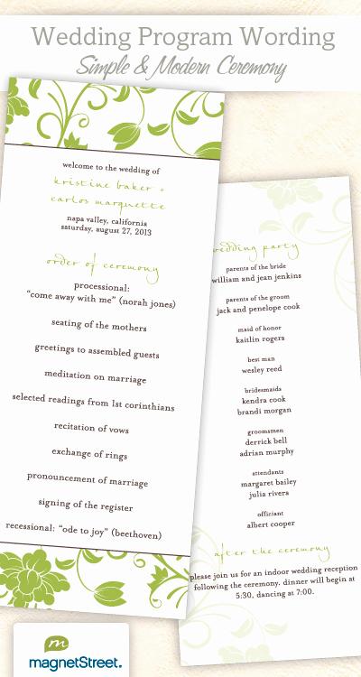 Free Sample Wedding Programs Templates Beautiful Wedding Program Wording & Templateswedding Program Wording