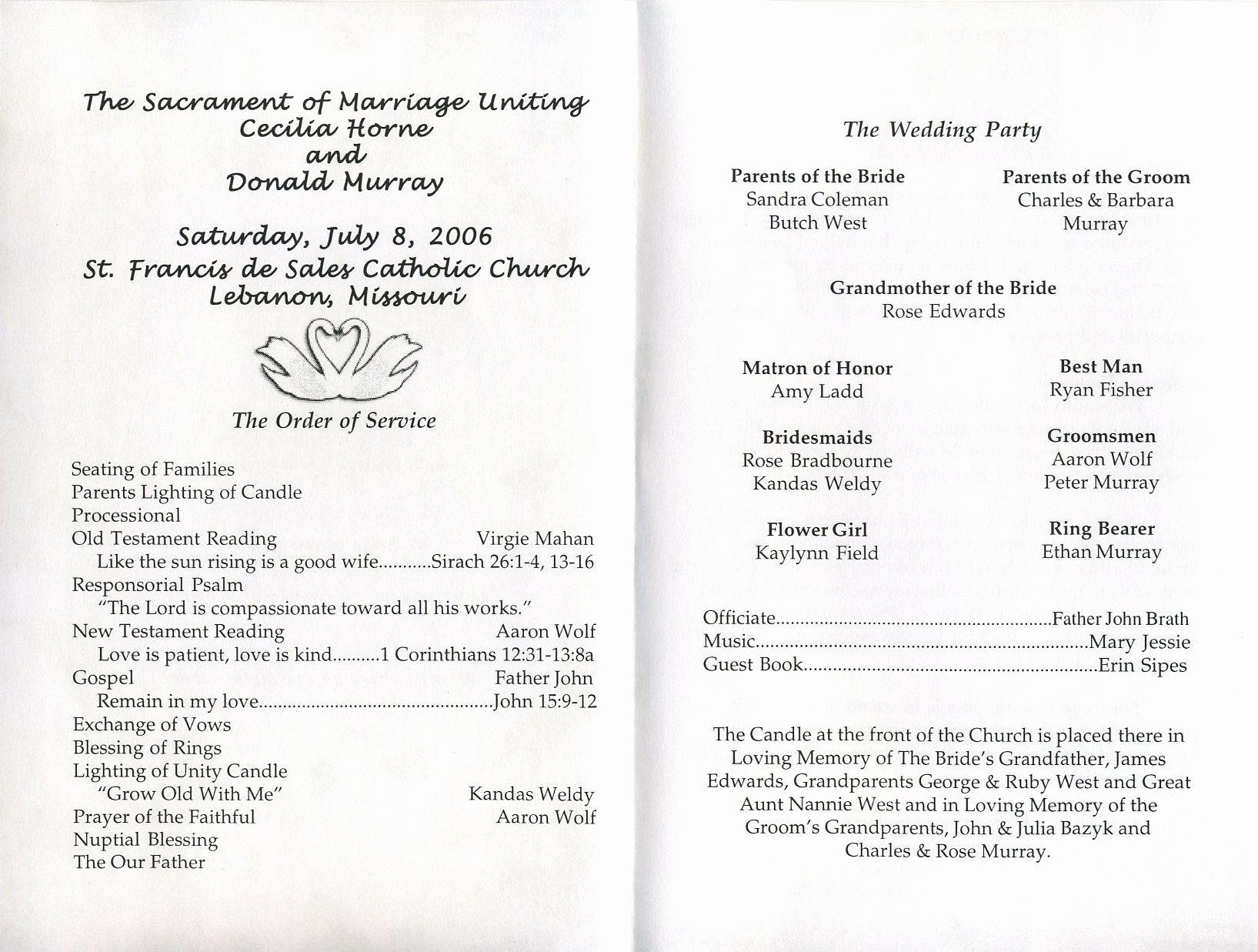 Free Sample Wedding Programs Templates Best Of Free Printable Wedding Programs Templates