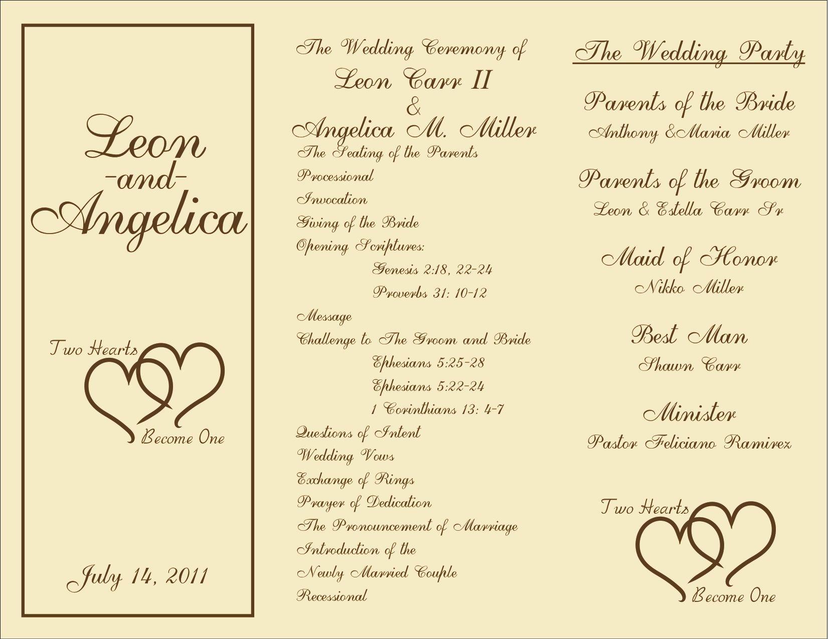 Free Sample Wedding Programs Templates Best Of Printable Wedding Programs On Pinterest