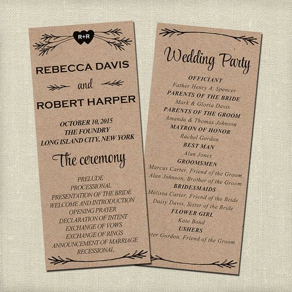 Free Sample Wedding Programs Templates Inspirational Best 25 Wedding Program Templates Ideas On Pinterest