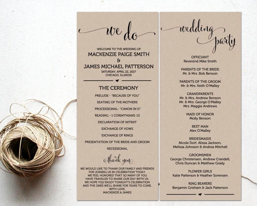 Free Sample Wedding Programs Templates Inspirational Ceremony Programs Wedding Program Template Ceremony
