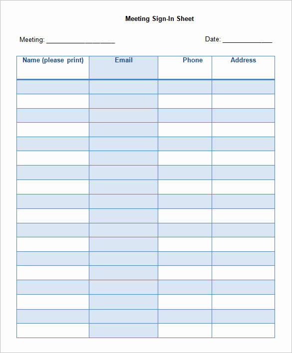 Free Sign In Sheet Template Best Of 75 Sign In Sheet Templates Doc Pdf