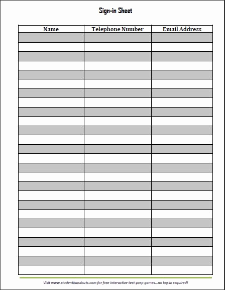 Free Sign In Sheet Template Best Of Guest and Visitor Sign In Sheet