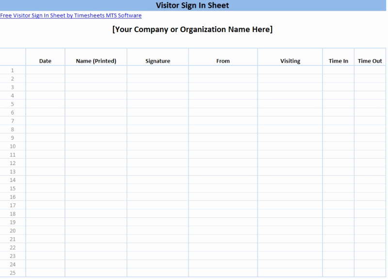 Free Sign In Sheet Template Lovely Printable Sign In Sheet Templates
