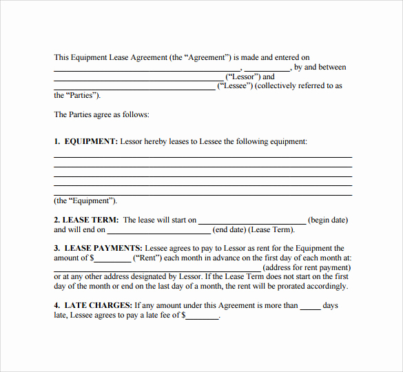 Free Simple Lease Agreement Best Of 9 Sample Lease Agreements