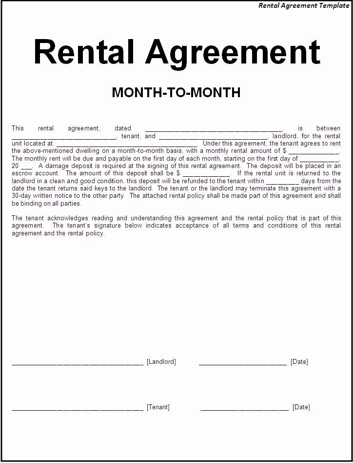 Free Simple Lease Agreement Unique Printable Sample Simple Room Rental Agreement form