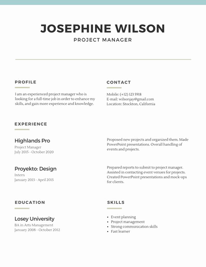 Free Simple Resume Templates Awesome Blue Lines Simple Resume Templates by Canva