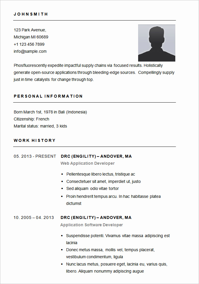 Free Simple Resume Templates Best Of Resume Templates