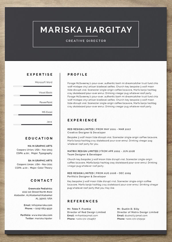 Free Simple Resume Templates Luxury 24 Free Resume Templates to Help You Land the Job