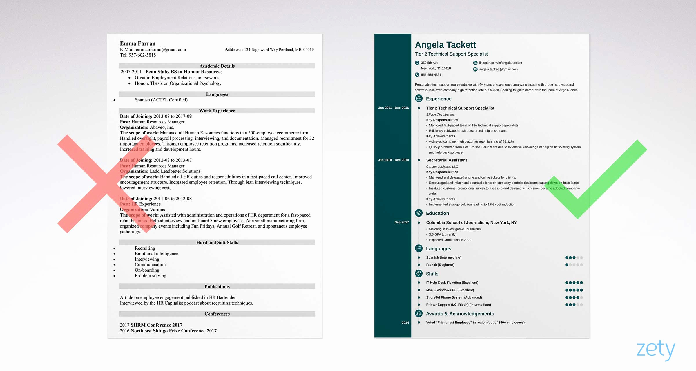 Free Simple Resume Templates New Simple Resume Templates 15 Examples to Download & Use now