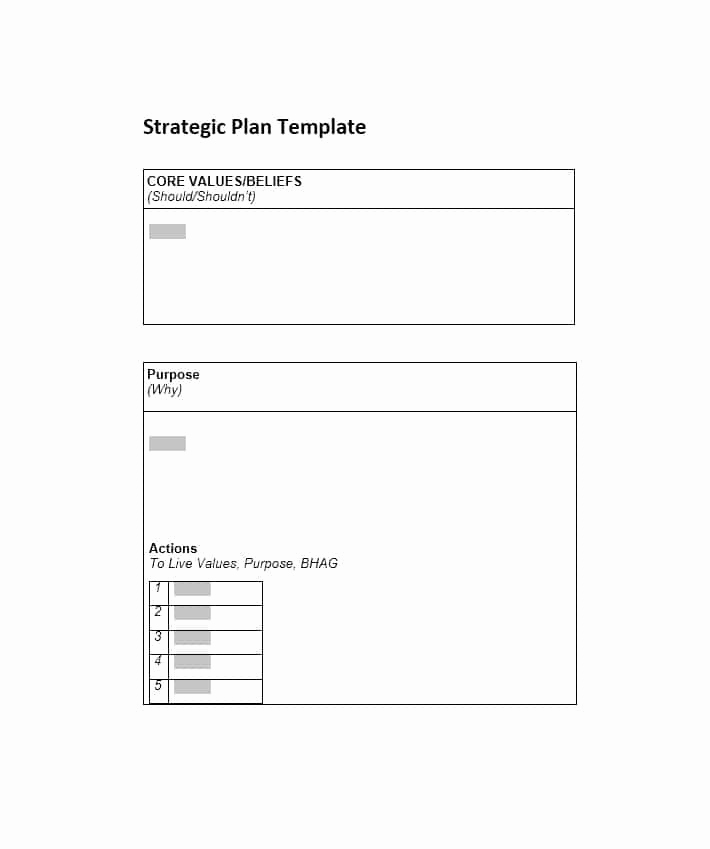 Free Strategic Plan Template Inspirational 32 Great Strategic Plan Templates to Grow Your Business