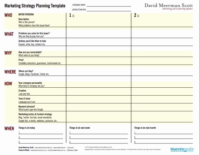 Free Strategic Plan Template Lovely Free Strategic Planning Templates