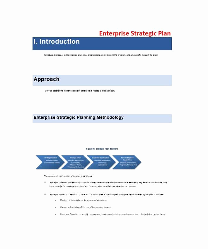 Free Strategic Plan Template Luxury 32 Great Strategic Plan Templates to Grow Your Business
