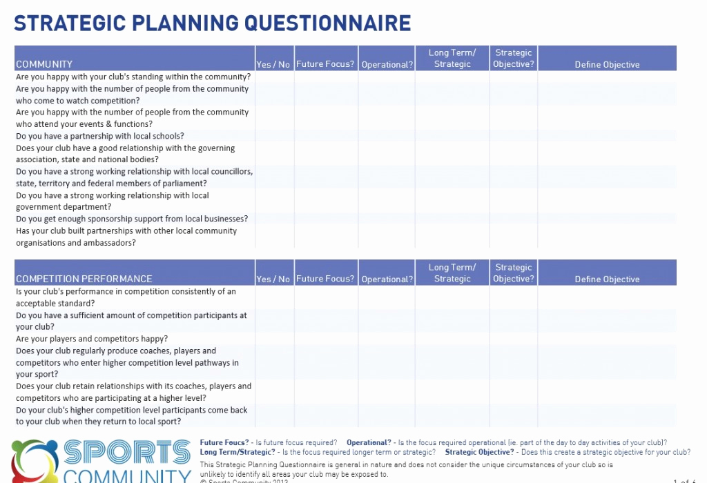 Free Strategic Plan Template New 18 Free Plan Templates Excel Pdf formats