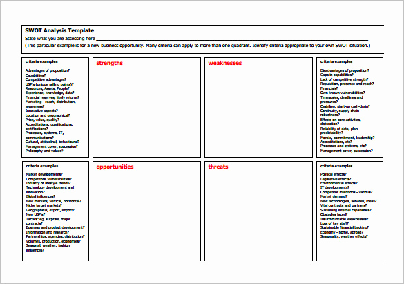 Free Swot Analysis Template Elegant 16 Analysis Templates Doc Pdf Excel