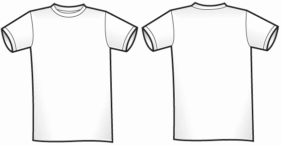 Free T Shirt Template Beautiful Free Of Twosided T Shirt Template Free Vector