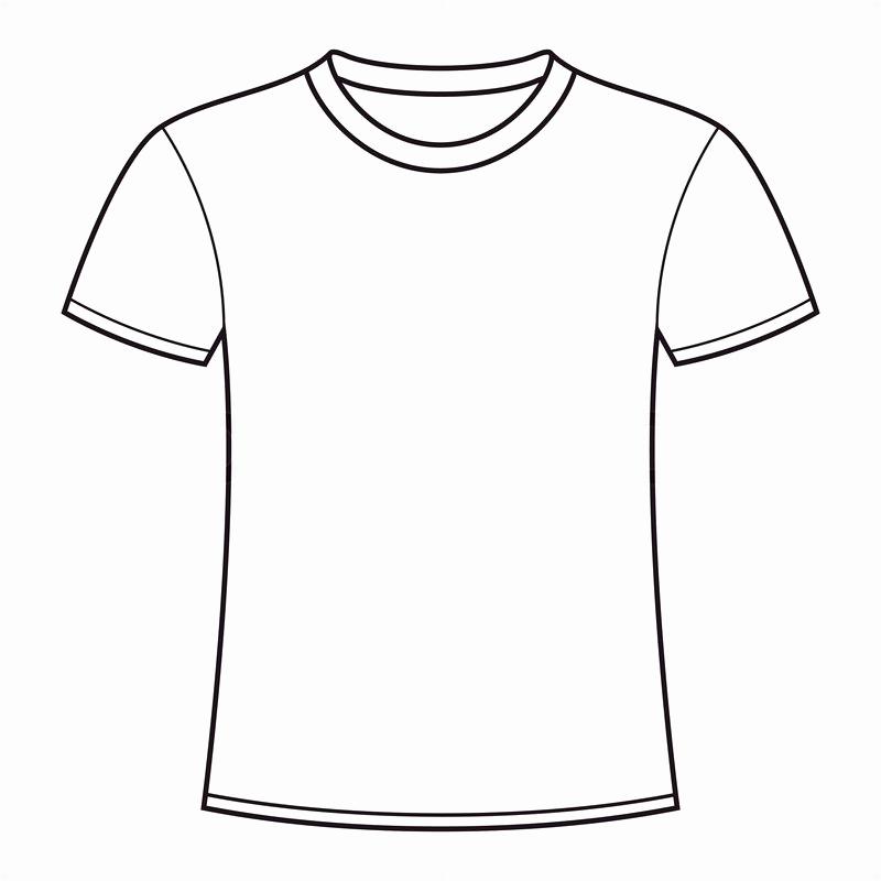 Free T Shirt Template Beautiful Outline A T Shirt Template