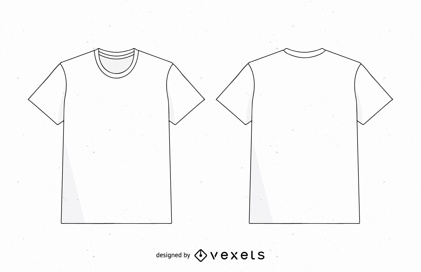 Free T Shirt Template Elegant Men T Shirt Template Vector Vector