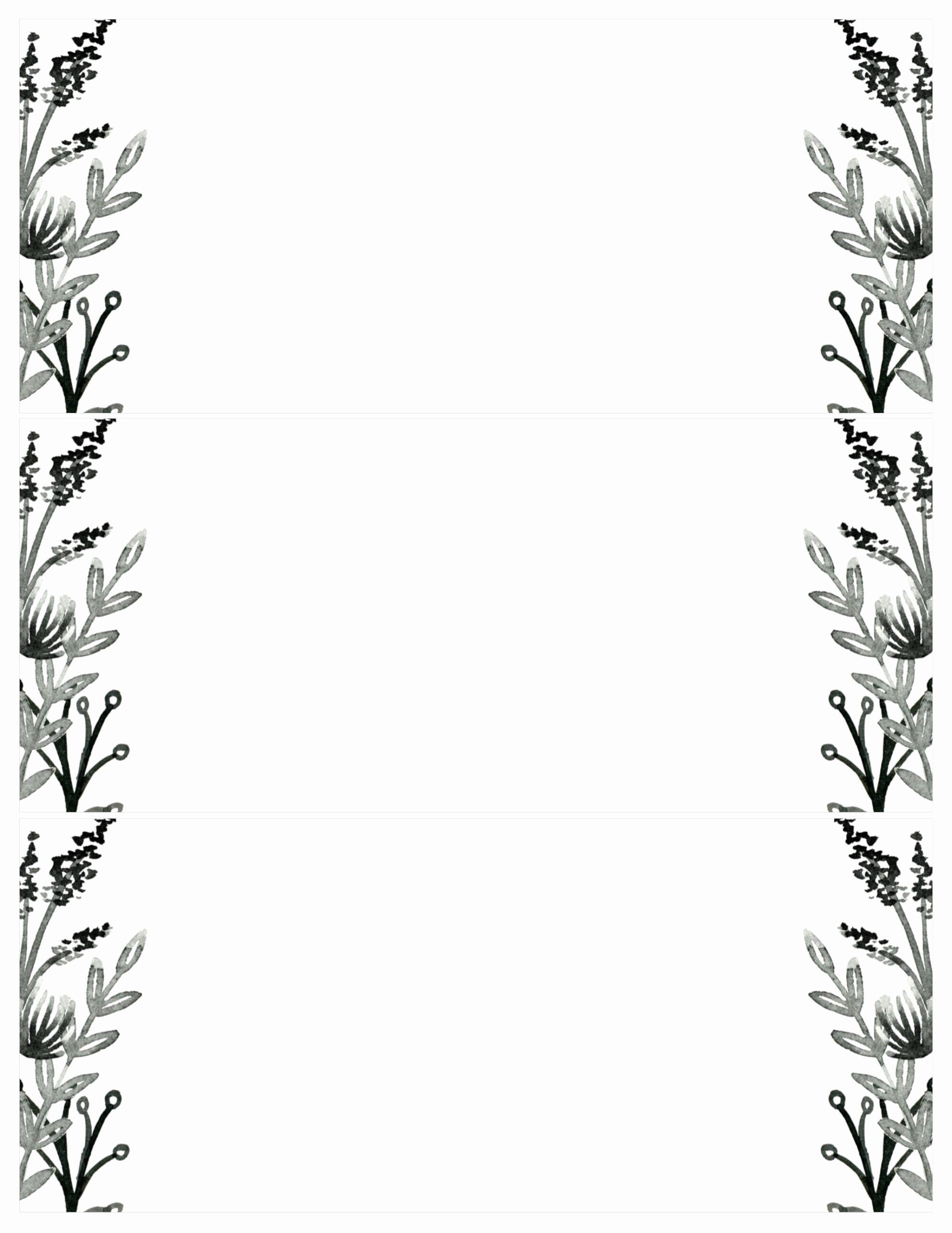 Free Templates for Invitations Beautiful Black White Flowers Invitations Templates Free Printable
