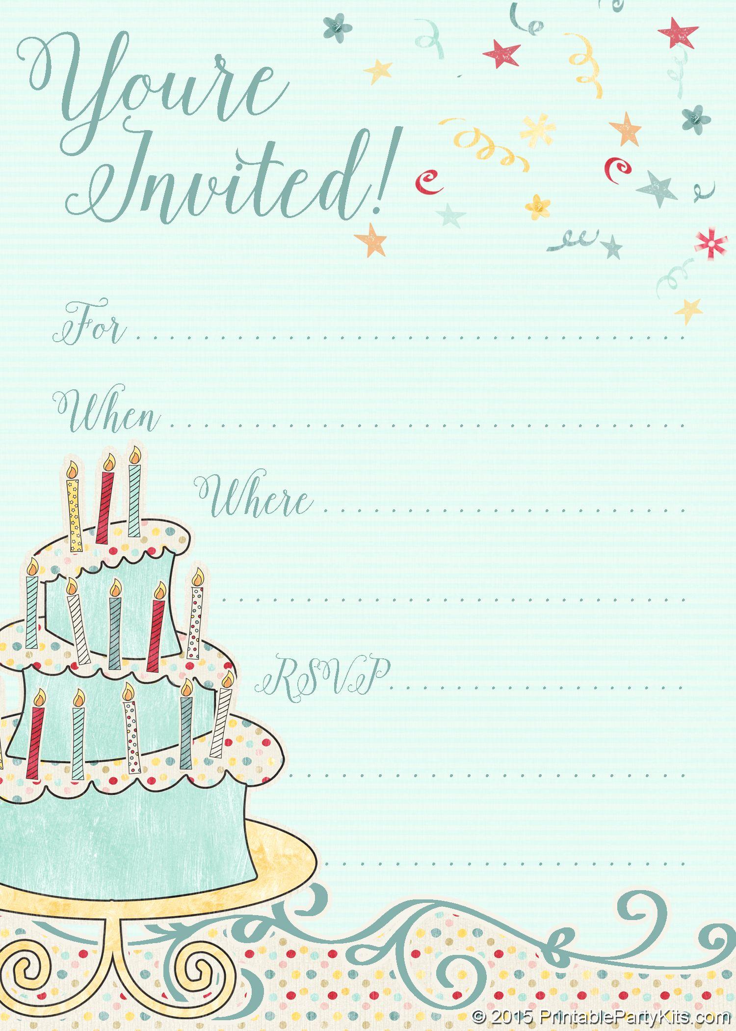 Free Templates for Invitations Elegant Free Printable Whimsical Birthday Party Invitation