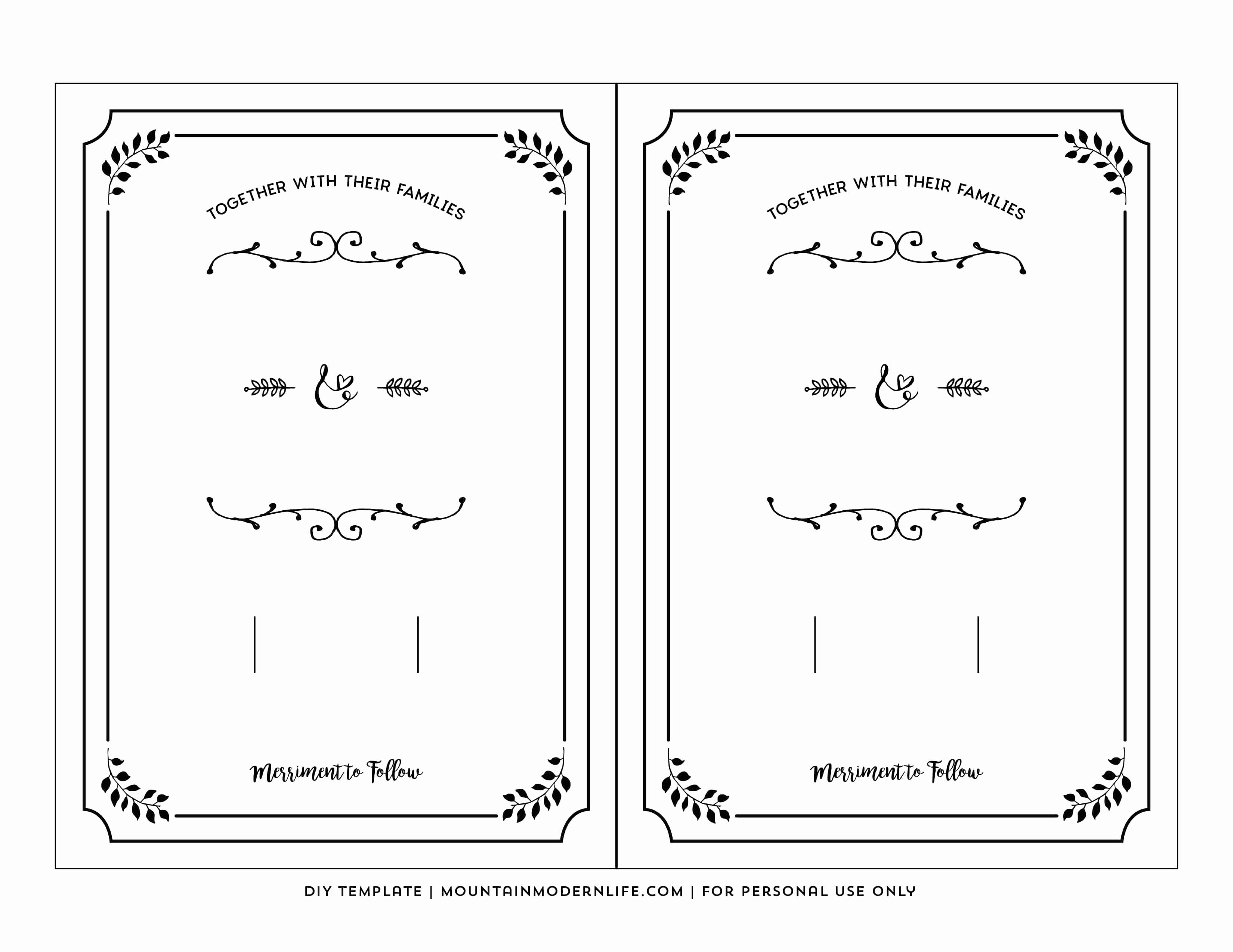Free Templates for Invitations Fresh Free Printable Wedding Invitation Template