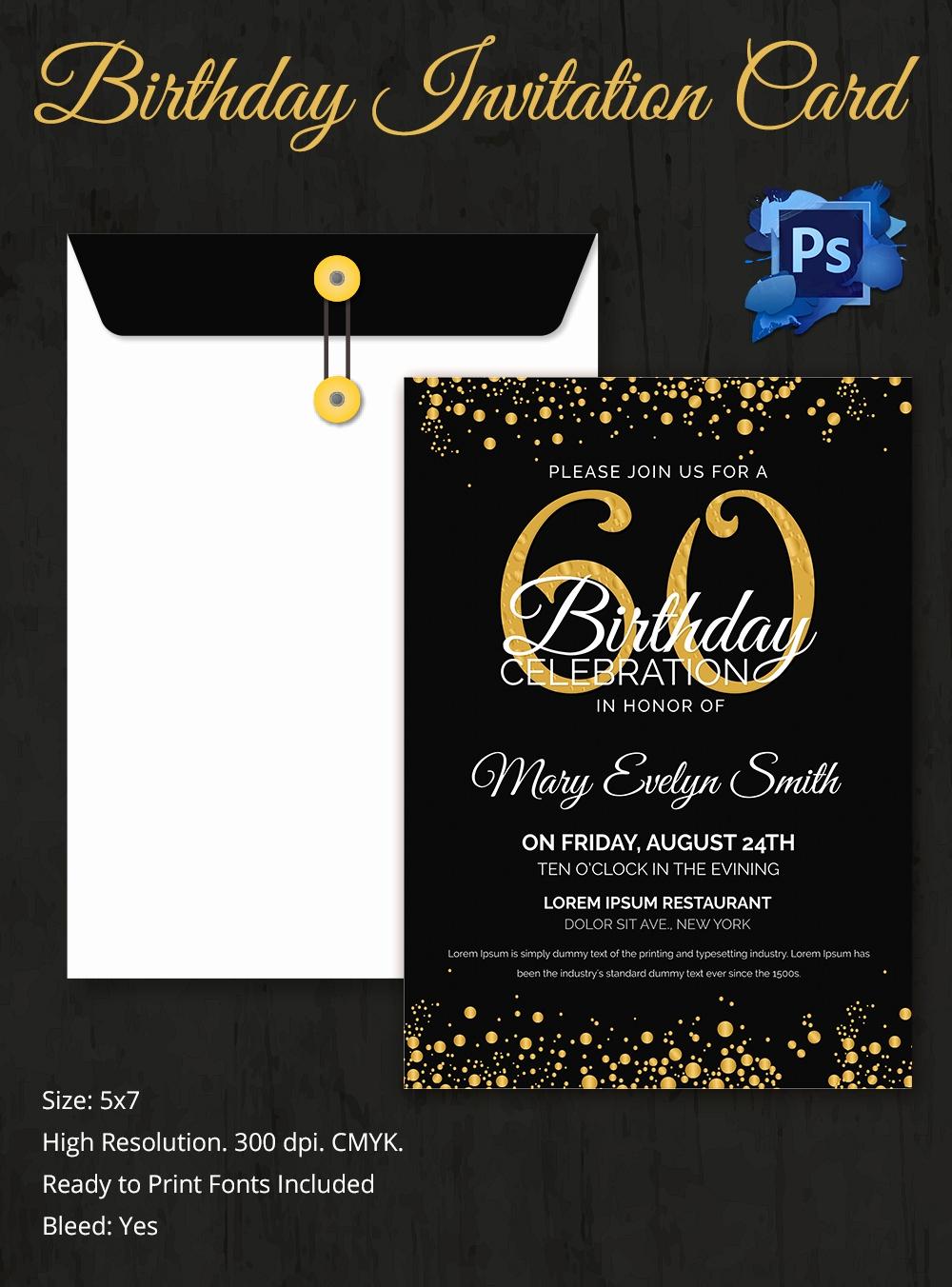 Free Templates for Invitations Inspirational Birthday Invitation Template 32 Free Word Pdf Psd Ai