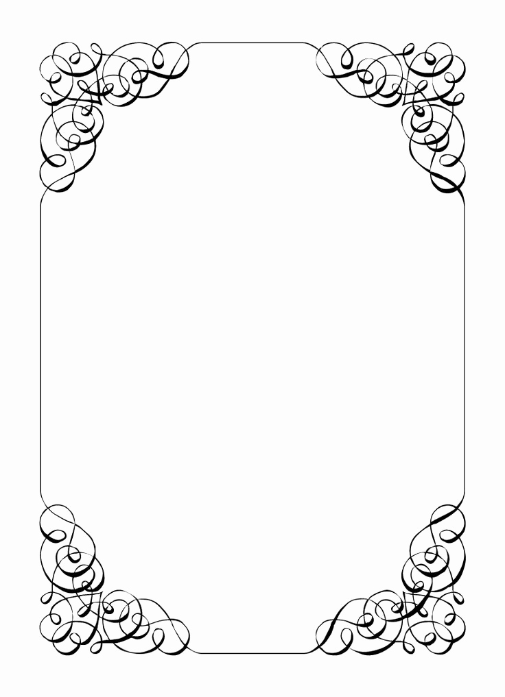 Free Templates for Invitations Inspirational Borders and Frames