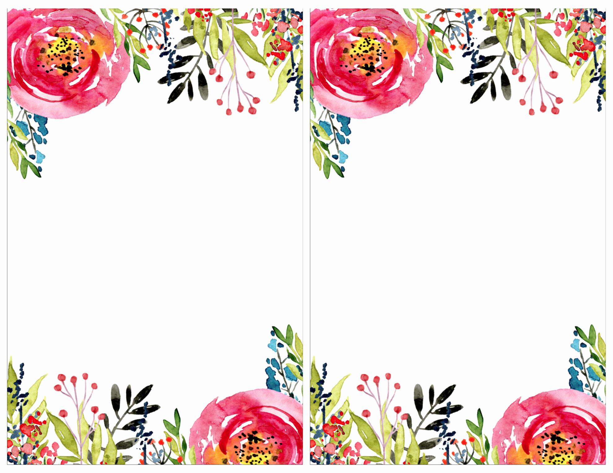 Free Templates for Invitations Inspirational Floral Invitation Template Free Printable Paper Trail
