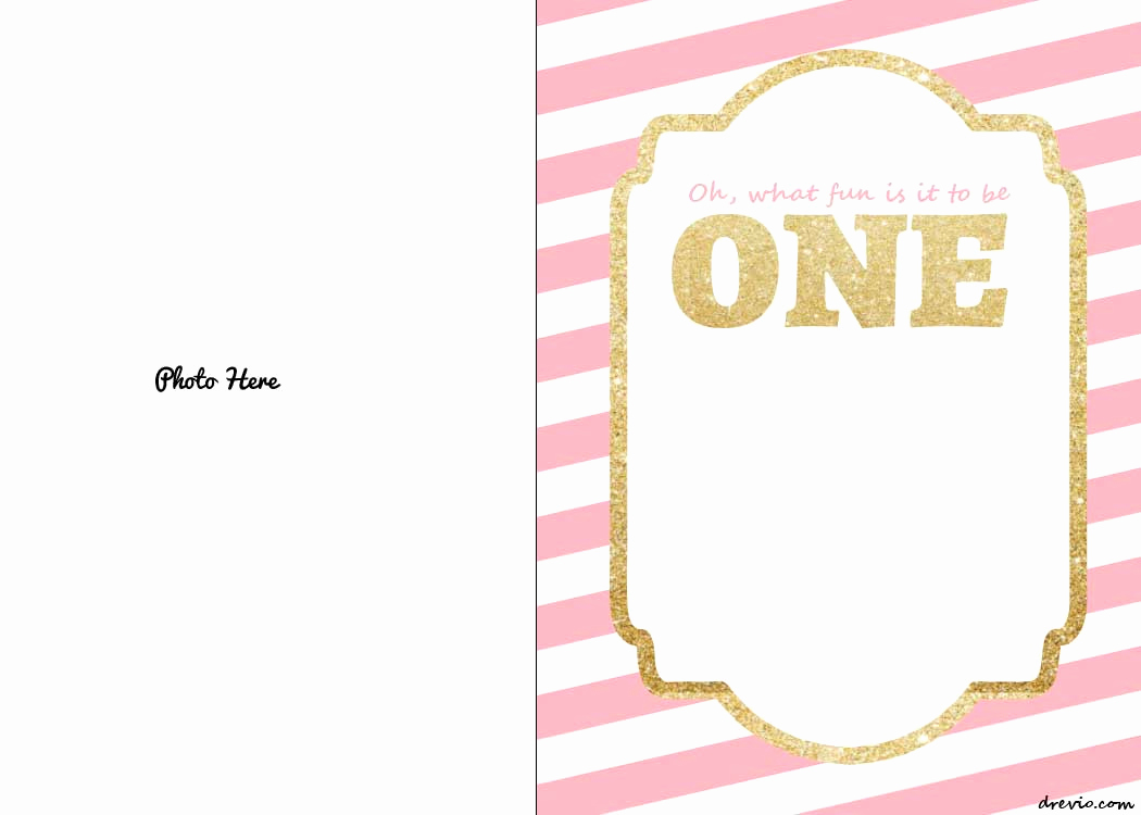 Free Templates for Invitations Inspirational Free Printable 1st Birthday Invitations Template