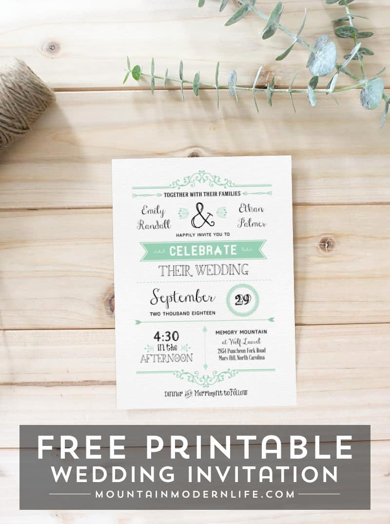 Free Templates for Invitations Inspirational Free Wedding Invitation Template