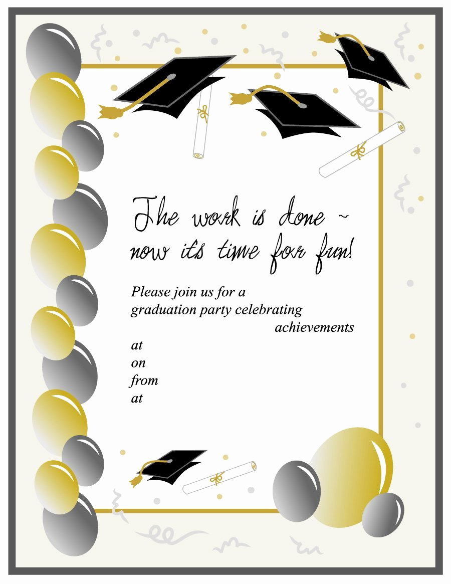 Free Templates for Invitations Lovely 40 Free Graduation Invitation Templates Template Lab
