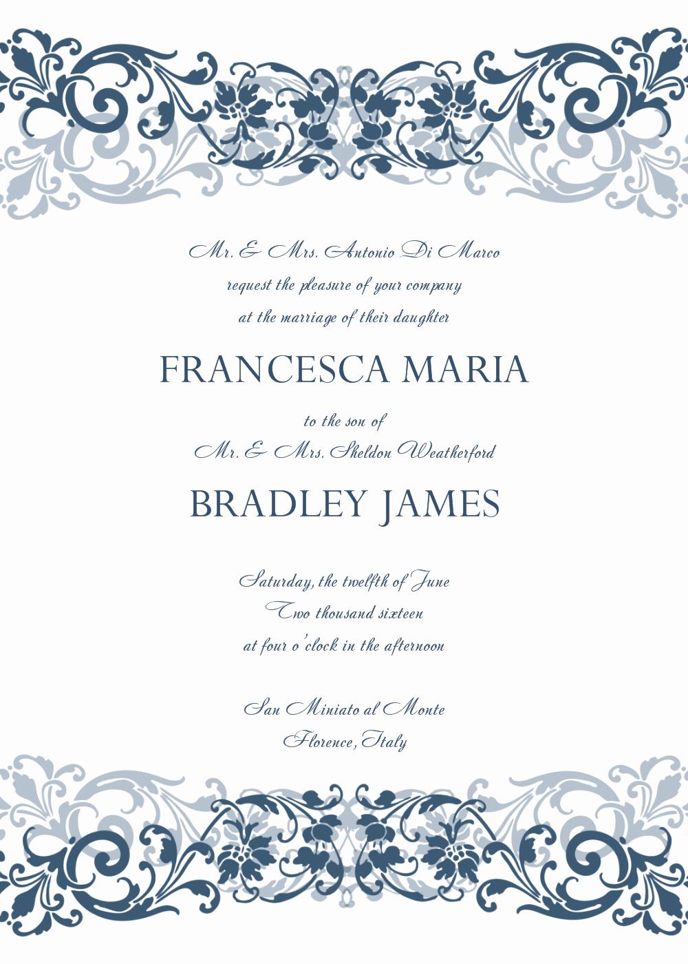Free Templates for Invitations Luxury 8 Free Wedding Invitation Templates Excel Pdf formats