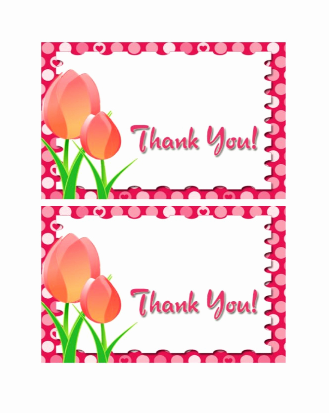 Free Thank You Card Template Awesome 30 Free Printable Thank You Card Templates Wedding