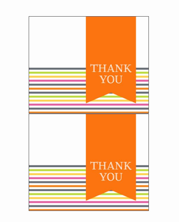 Free Thank You Card Template Best Of 30 Free Printable Thank You Card Templates Wedding