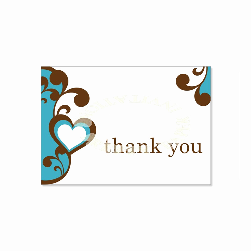 Free Thank You Card Template Luxury Thank You Card Template