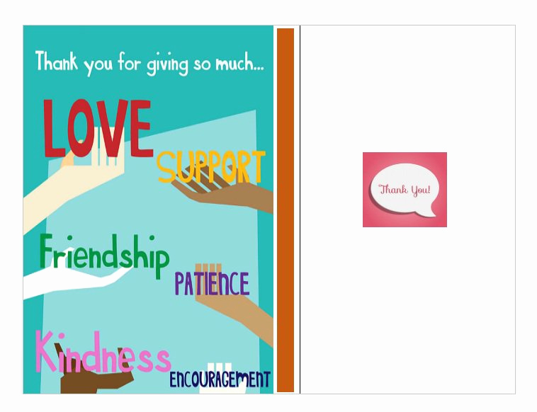 Free Thank You Card Template New 30 Free Printable Thank You Card Templates Wedding
