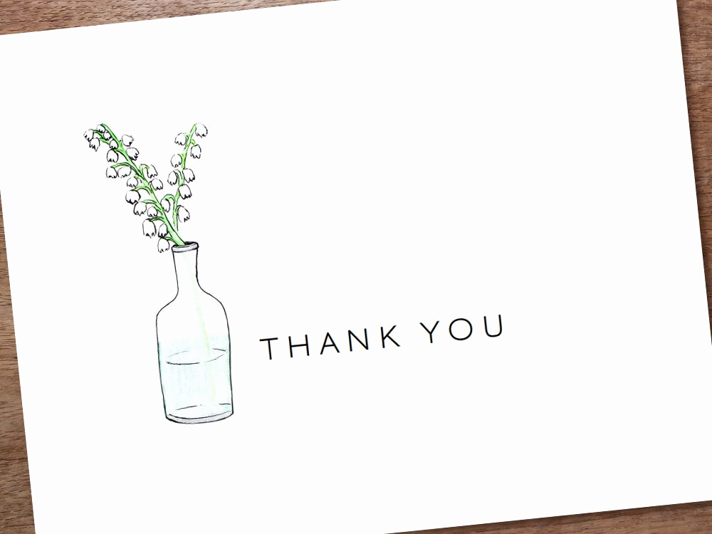 Free Thank You Card Template New Printable Thank You Card Template Instant Download by Empapers
