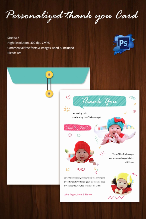 Free Thank You Card Template Unique 105 Thank You Cards – Free Printable Psd Eps Word Pdf