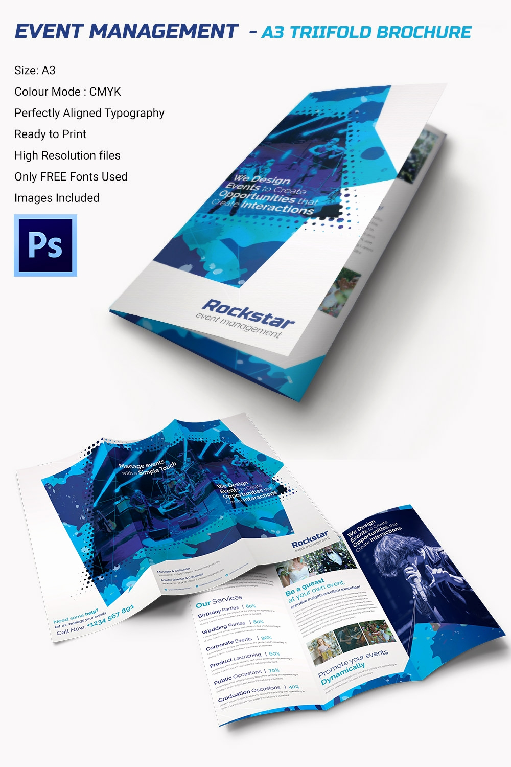 Free Tri Fold Brochure Template Awesome 16 event Brochure Templates & Psd Designs