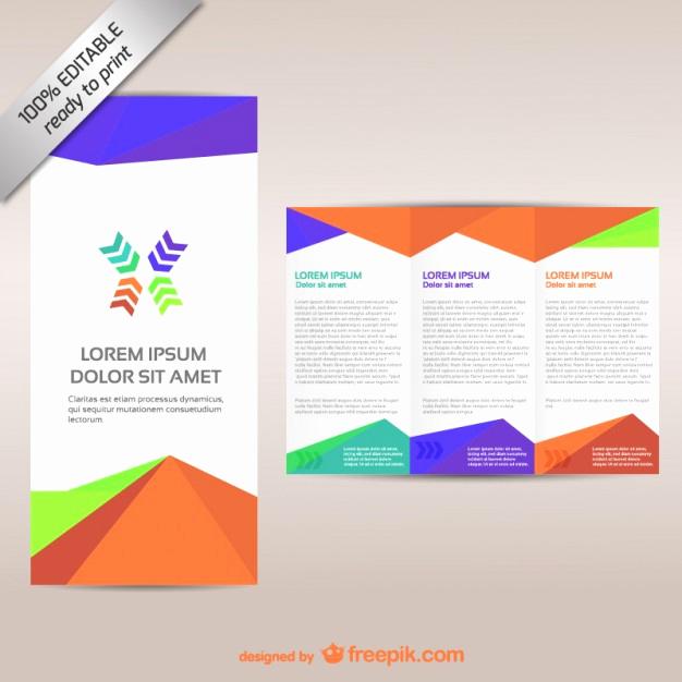 Free Tri Fold Brochure Template Beautiful Colorful Tri Fold Brochure Template Vector
