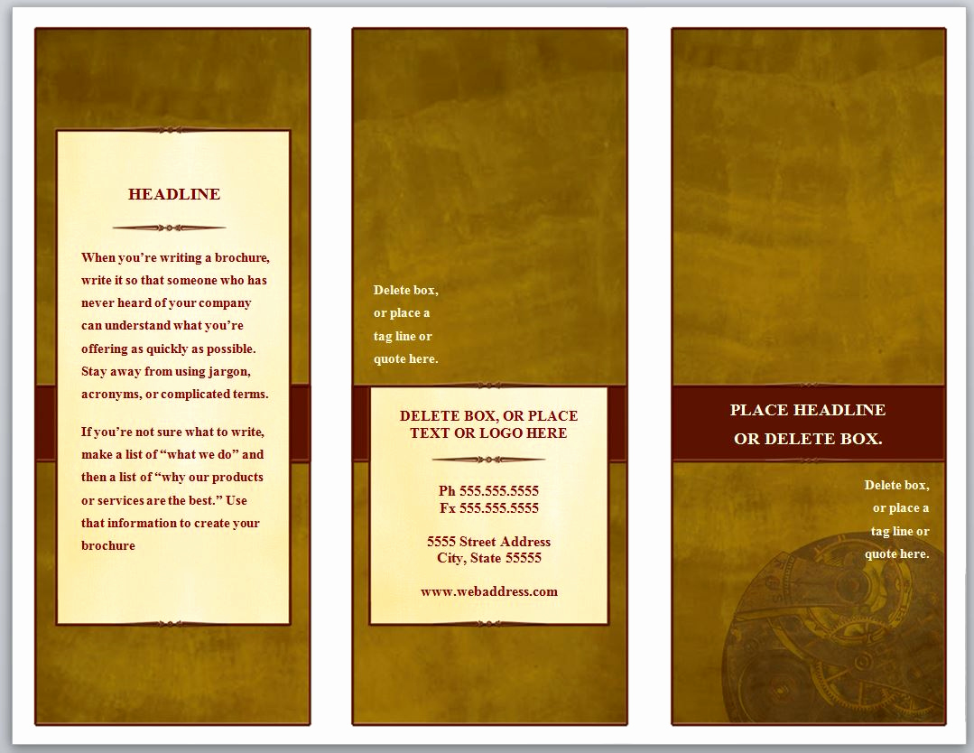 Free Tri Fold Brochure Template Beautiful Tri Fold Brochure Template
