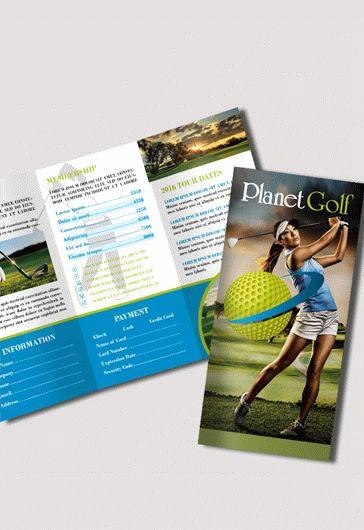Free Tri Fold Brochure Template Elegant Golf Club – Free Psd Tri Fold Psd Brochure Template – by