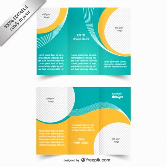 tri fold brochure template