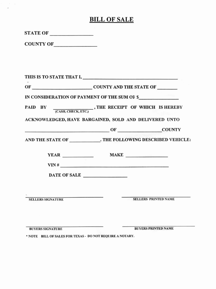 Free Vehicle Bill Of Sale Beautiful Blank Bill Sale for A Car form Download How